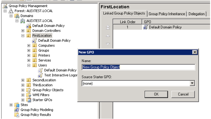 link gpo on multiple ou