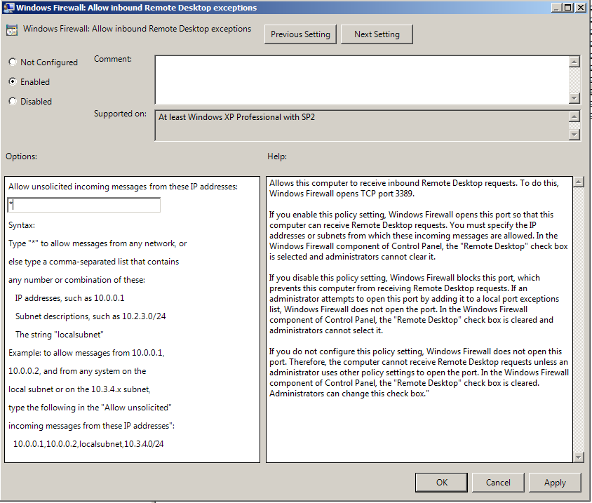 windows firewall group policy settings registry